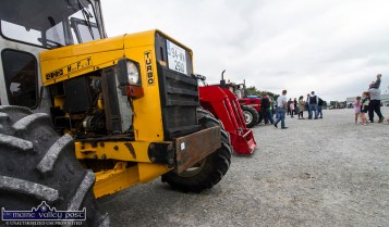 So much to see for all ages as tractors of all makes and shapes line-up at the start of the 10th Paudie Fitzmaurice Memorial Tractor and Vehicle Run on the yard of Castleisland Co-OP Mart on Sunday. ©Photograph: John Reidy