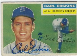 Autographed 1956 Topps Cards