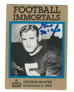 Autographed Hall of Fame Football Immortals Cards