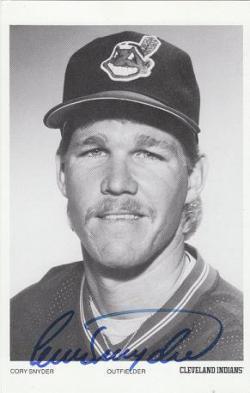 Autographed B&W Postcards - Cleveland Indians