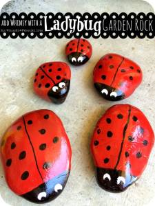 Add a Little Whimsy: Create a Cute Painted Ladybug Garden Rock