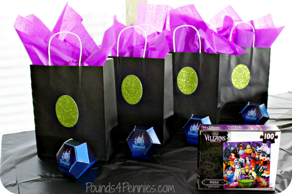 Gift Bags Disney Villains Party