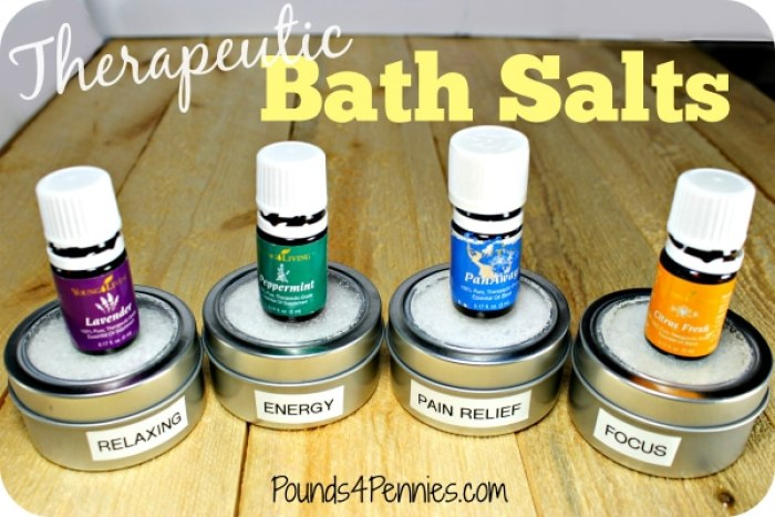 Therapeutic Bath Salts with Oils 1
