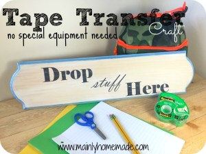 Easy Tape transfer craft for drop zone sign