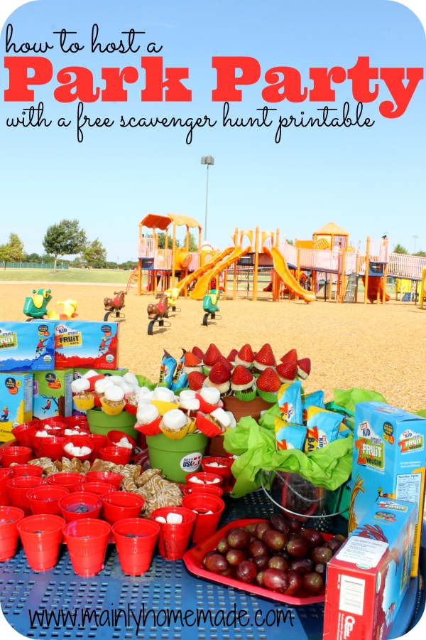 How to host a park Party Scavenger Hunt