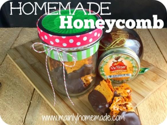 Chocolate Covered Homemade Honeycomb Gift idea