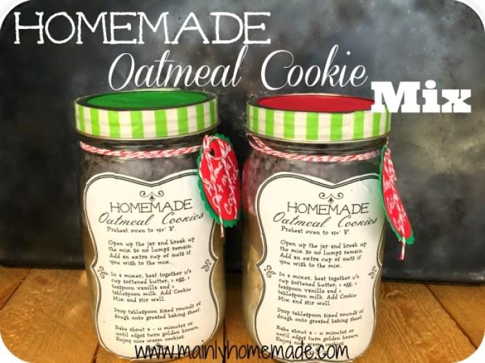 Homemade Oatmeal cookie mix recipe gift idea