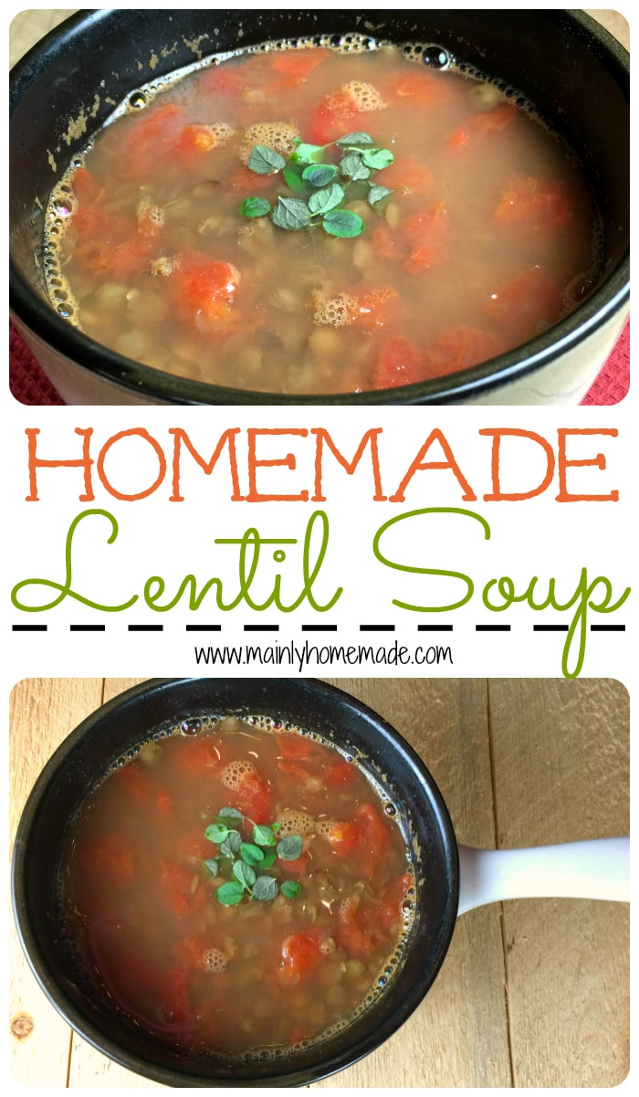 Homemade lentil soup recipe
