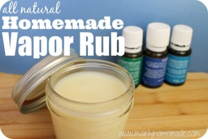 all natural homemade vapor rub