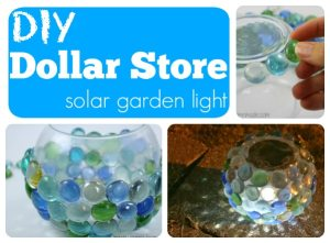 DiY solar garden globe light Dollar Store