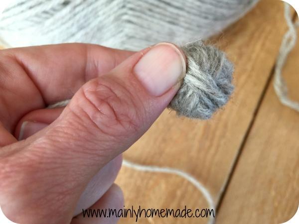 Mini homemade wool dryer ball