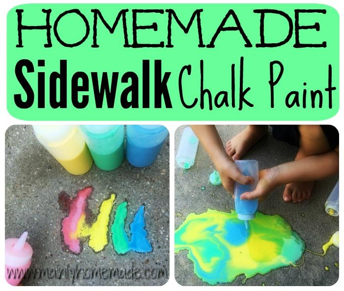 Fizzy Homemade Sidewalk Chalk Paint