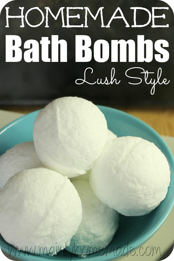 Lush Style homemade bath Bomb Recipe