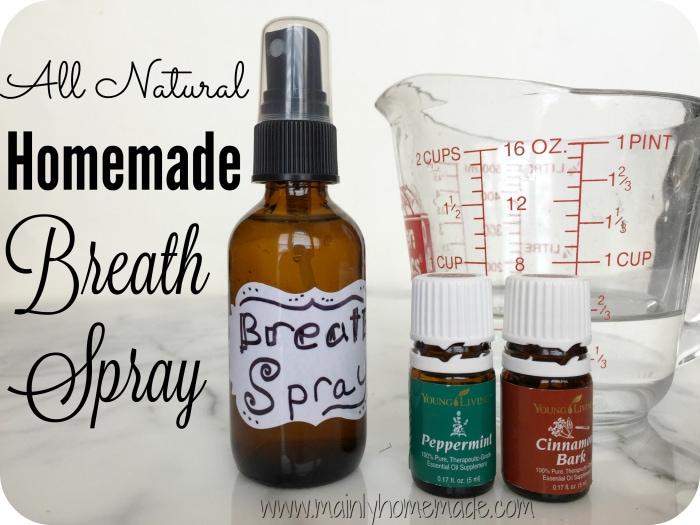 All natural homemade breath spray