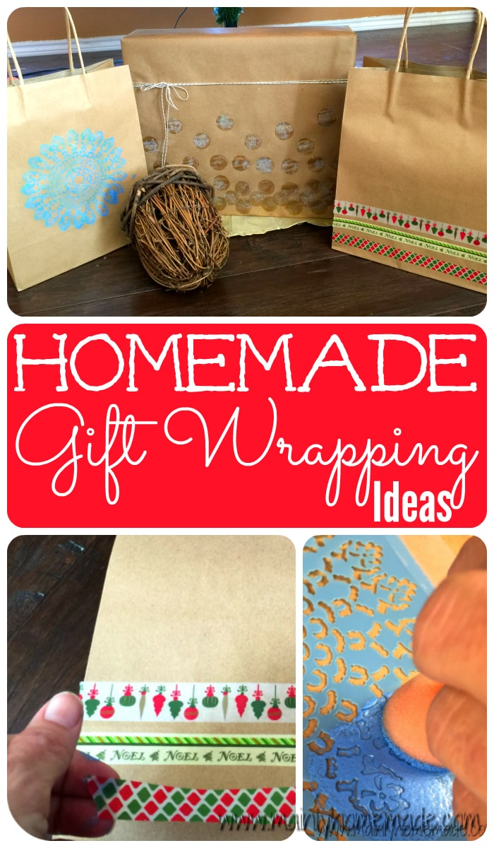 Easy Homemade wrapping paper ideas