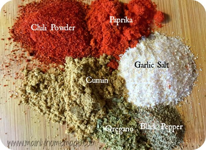 Homemade Fajita Seasoning spices