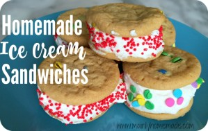 Homemade Ice Cream Sandwich Cookies