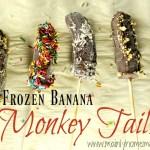 Chocolate frozen banana monkey tail