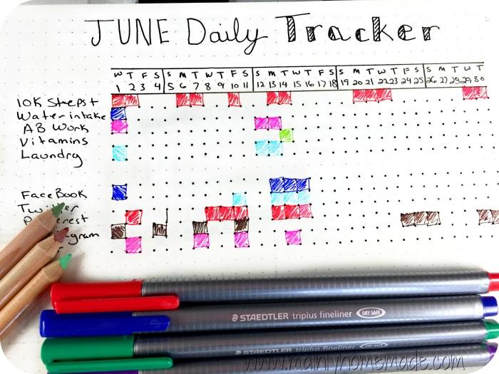 Daily Tracker for Bullet Journal