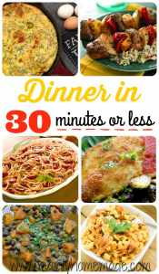 Dinner Ideas in 30 Minutes or Less