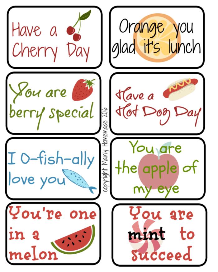Free School Lunchbox Printables