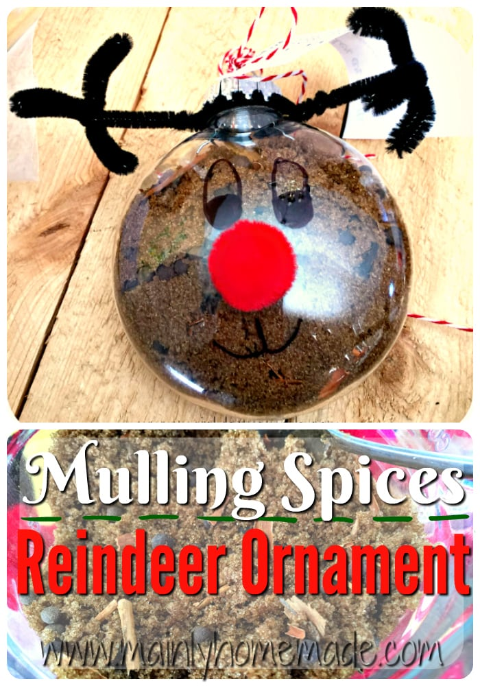 Mulling spices reindeer ornament gift idea