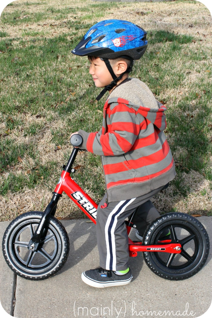 Learning to Ride a Bike Strider Bike