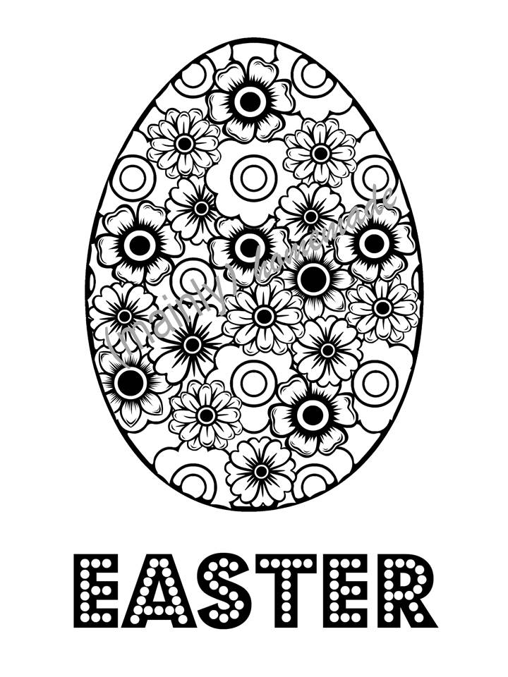 photo about Easter Egg Printable identified as Enjoyment Easter Egg Coloring Webpage