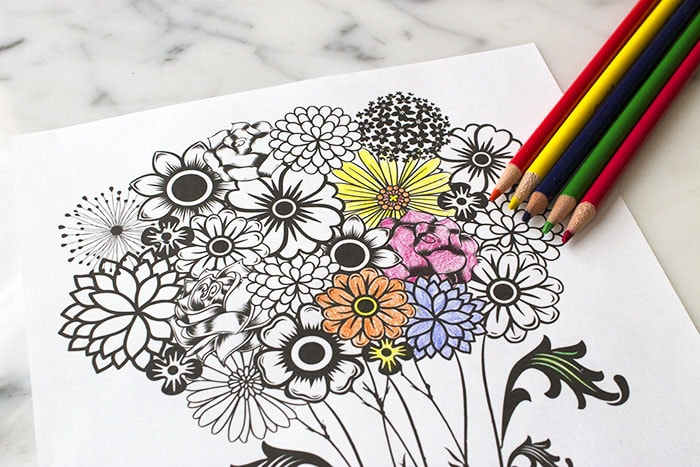 Fun Mother's Day Coloring Page Flower Printable Mainly Homemade