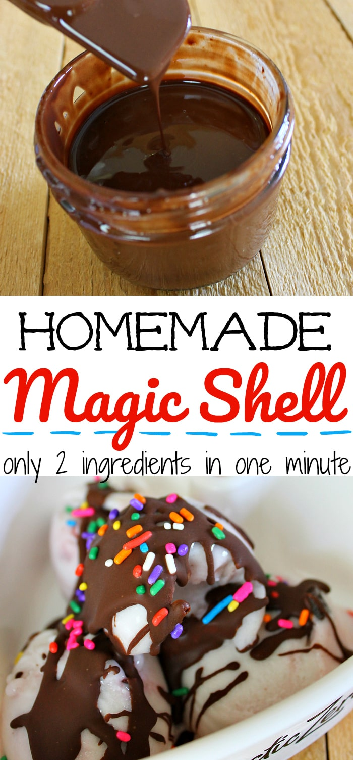 Homemade magic shell recipe