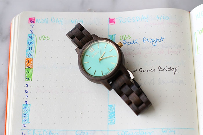 Watch Daily time bar bullet journal