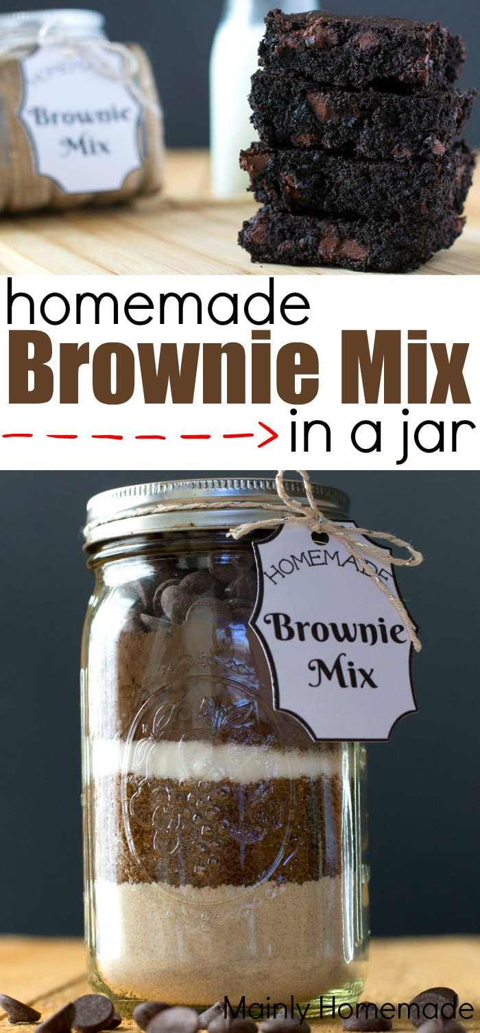 Homemade Brownie Mix in a jar