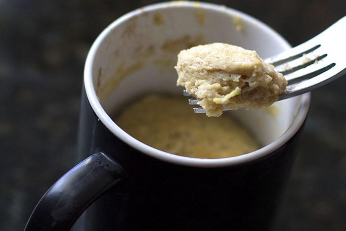 apple mug muffin made in 3 minute