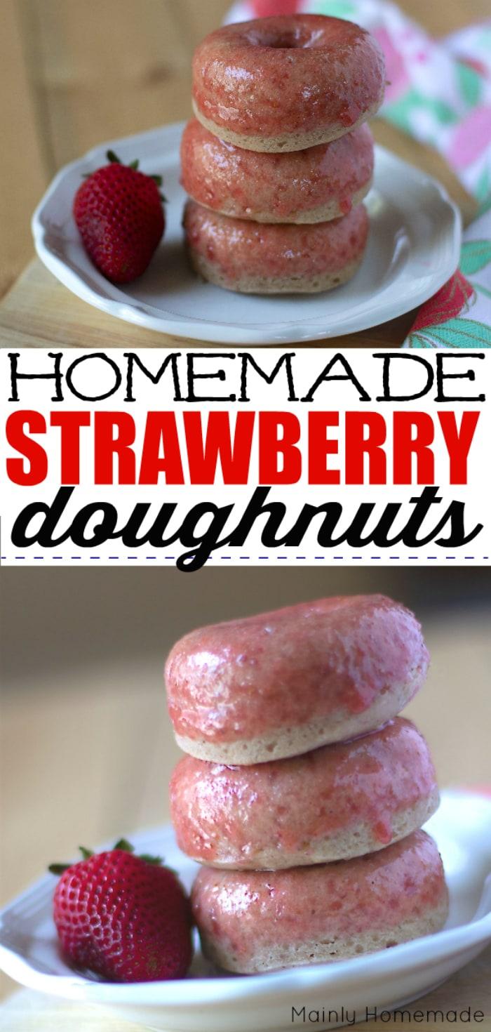 Homemade Strawberry Doughnuts Recipe