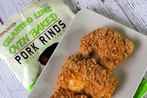 Cilatro Lime Pork Rind Chicken Plated Bag 2