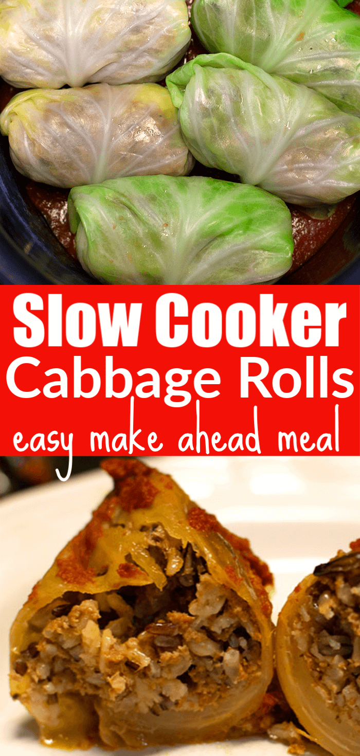 Slow Cooker Cabbage Rolls Meal Idea. Make ahead meal idea.