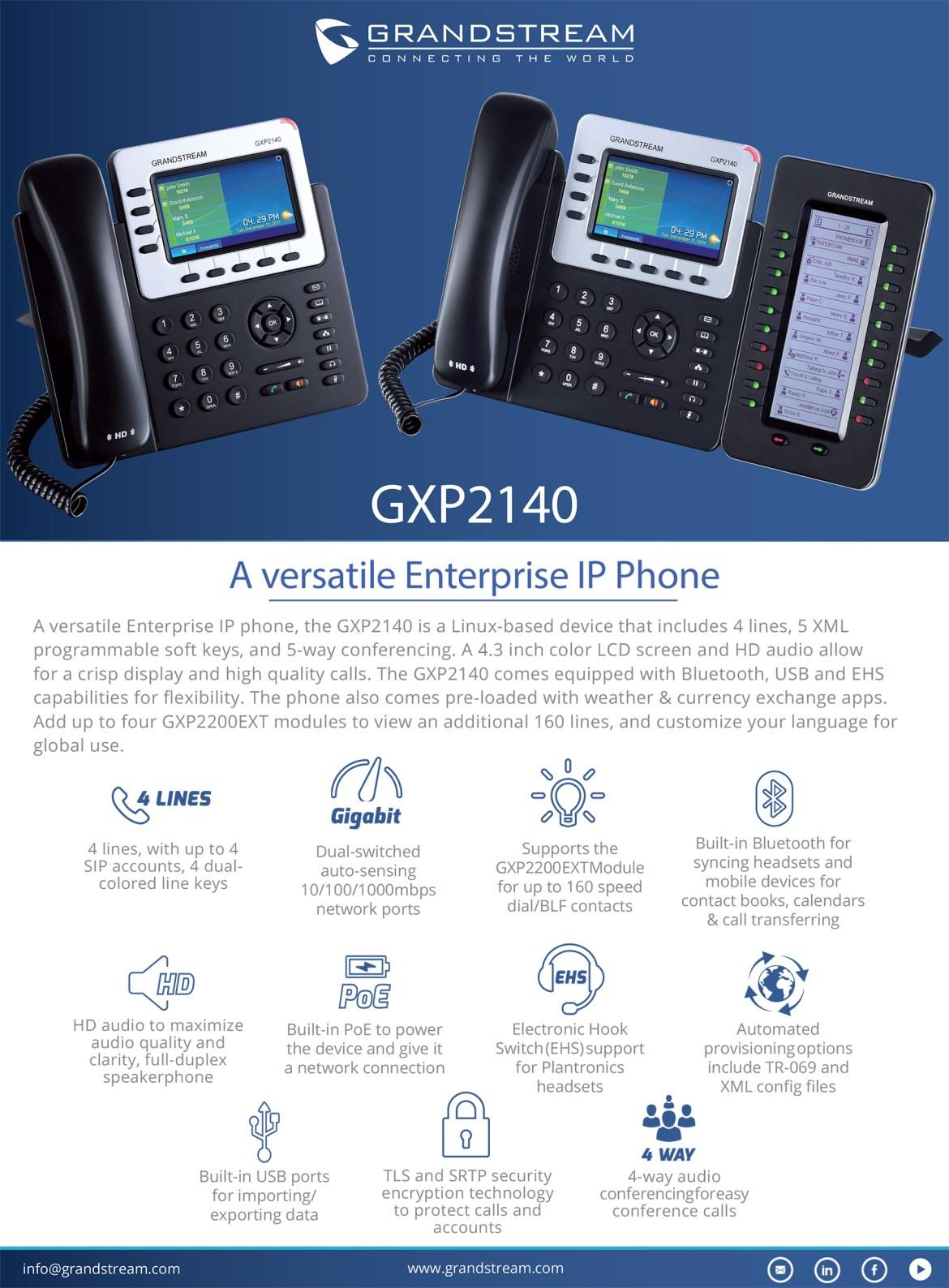 Gxp2140 datasheet