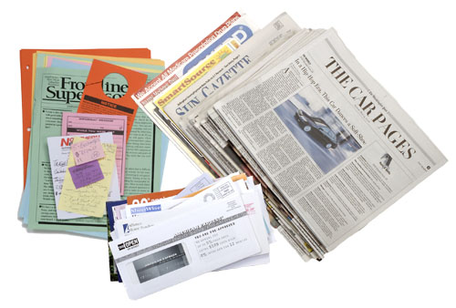 Mix Paper: This lowest valued paper grade is a mixture of all paper grades including magazines and telephone books.