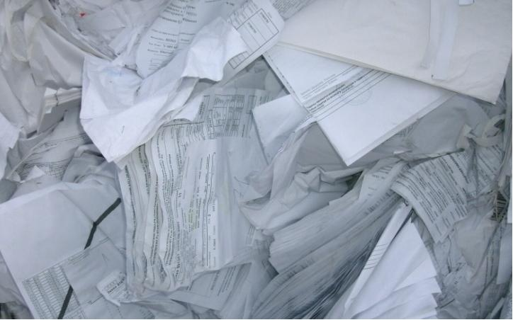 Sorted White Ledger — Consists of white paper printed or unprinted which includes copier paper, computer paper and white envelopes without windows. Must be free of coatings and heavy color printing.