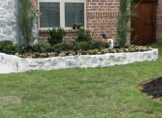 Cobble Stone Wall Frisco TX After