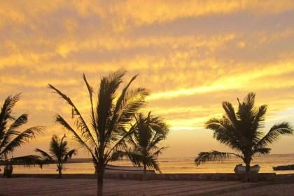 maio cape verde beach sunset background