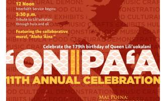 'Onipa'a 2017 flier