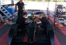 Jacques Villeneuve testa carro da Venturi (Foto: Divulgação)