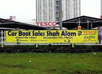 Car boot Sale Shah Alam | Tesco Extra Seksyen 13