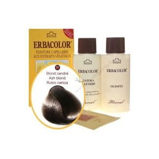 Teinture Blond cendré 120 ml Numéro 21 Erbacolor