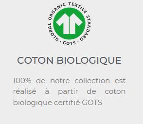 Maison Carrillo n'utilise que du coton biologique certifié GOTS