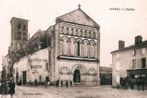 Carte postale église de Jarnac ville natale Mitterrand