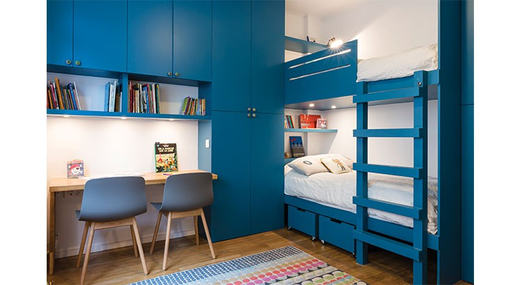 chambre d enfants des lits superposes