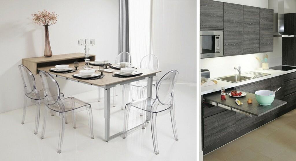 Tables De Cuisines Modulables Gain De Place Maison Travaux