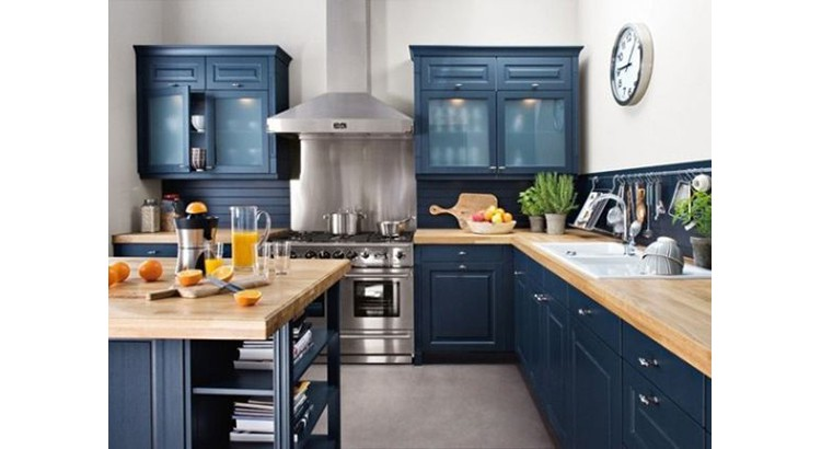 le bleu dans la cuisine
